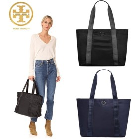 Qoo10クーポン使えます♪ TORY BURCH ☆ QUINN LARGE ZIP TOTE