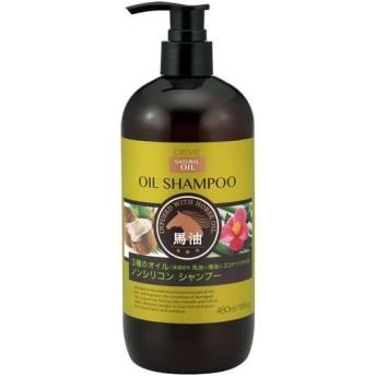 熊野油脂 ディブ 3種のオイル シャンプー 馬油・椿油・ココナッツオイル 本体 480mL Deve デイブ