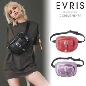 【SALE50%OFF】EVRIS エヴリス 通販 フェイクレザーバックルウエストポーチ レディース バッグ 鞄 ウエストポーチ フェイクレザー ブラン