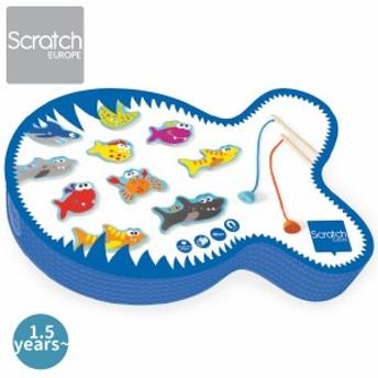 Scratch スクラッチ フィッシュゲーム デンジャラスフィッシュ ~ ハーフバースディ、1歳、2歳の男の子、女の子の誕生、クリスマス。