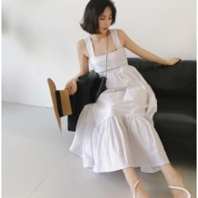 ファッション 秋新作 ワンピース バックシャン バックリボン ゆったり オルチャン ファッション