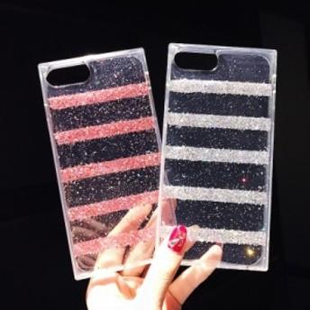 iphone6s Plus/iPhone6 Plus/iPhone7 Plus/iPhone7/iPhone8 Plus/iPhone8/iPhoneXケース透明キラキラケース【hn208】