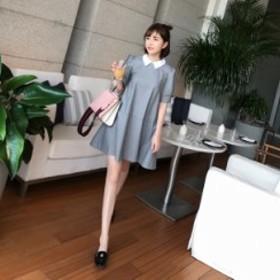 4061dd5f72598 レディースファッション 秋新作 チェック 襟付き オルチャン ファッション 韓国 ファッション ワンピース 大人 可愛い