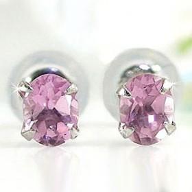 ピアス ピンクトルマリン プラチナ 10月誕生石 天然石 レディース 宝石 送料無料