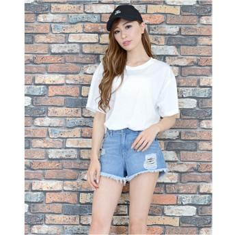 Tシャツ - Janiss CAP付ロゴプリントTシャツ