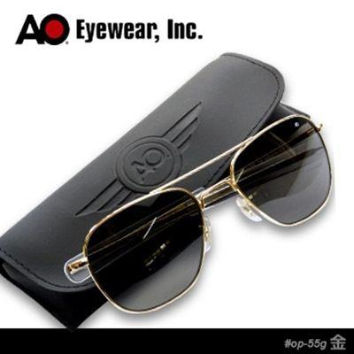 AO 美國軍規飛官太陽眼鏡(灰色玻璃鏡片)#OP55G.BA.TC