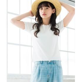 Tシャツ - WEGO【WOMEN】 メロウフリルリブTシャツ BS18SM04-L036