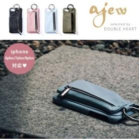 【plus共通】エジュー ajew 通販 Ajew cadenas zipphone case iphone plus共通ケース iphone6plus iphone7plus iphone8plus 6プラス 7プ