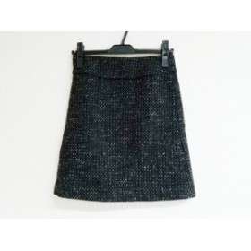 エムプルミエブラック M-premierBLACK スカート サイズ34 S レディース 黒×白×グレー ツイード/ラメ【中古】