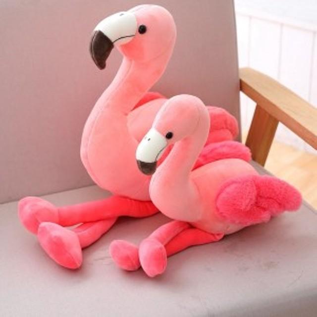 フラミンゴ 抱き枕 クッション 可愛い インテリア 少女 子供宥め ぬいぐるみ 部屋飾り 誕生日お祝い ギフト 肌触りが良い35cm