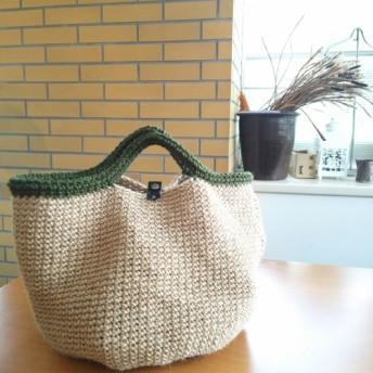 麻紐bag(大/緑)