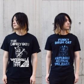 【夏の袋(creema限定)】猫ツアーTシャツ2枚(サイズ各お選び頂けます。S、M、L) WATERFALLオリジナル