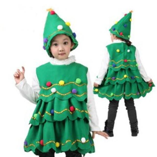 海外 コスプレ服 キッズコスプレ クリスマスツリー 女の子 90cmから ハロウィン