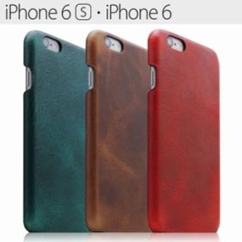 【送料無料】≪iPhone6S/6≫ダメージレザー ハードケース/本革/スリム/ブラウン/レッド/iphone6Sカバー/アイフォン6Sケース/スマホケース