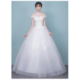 オフショルダーロングドレス演奏会 結婚式ドレス ウェディングドレス パーティドレス お呼ばれ ピアノ 発表会 フォーマル ドレス