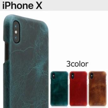 送料無料 iPhoneX SLG バダラッシーワックス イタリアンレザー ケース ハードケース グリーン レッド ブラウン アイフォンX スマホケース