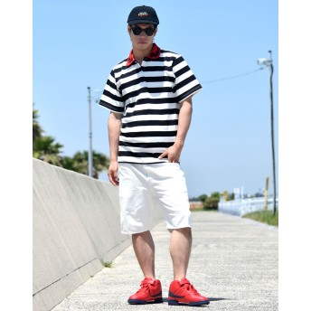 ポロシャツ - Third enterprise ポロシャツ メンズ オシャレ 半袖 大きいサイズ ボーダー ブランド 父の日 薔薇 b系 ファッション フォーマル カジュアル