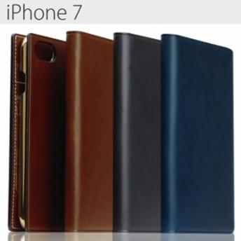 送料無料 iPhone7 SLG Design ブッテーロレザー レザー 手帳型ケース ブラウン メンズ カード収納 アイフォン7 セブン スマホケース