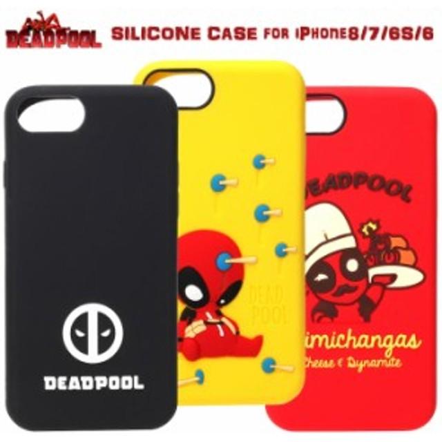 30a8fe9bee iPhone8 iPhone7 iPhone6S 6 デッドプール シリコンケース ソフトケース ケース キャラクター スマホケース スパイダーマン  マーベル