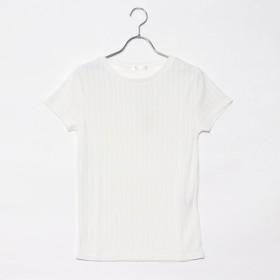ジーラ バイ リュリュ GeeRa by RyuRyu 選べるリブTシャツUネック (オフホワイト)