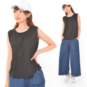 タンクトップ - CLOTHY ■デオドラントCOOL■吸汗速乾 ゆるスタイル 無地 タンクトップ (M/L)