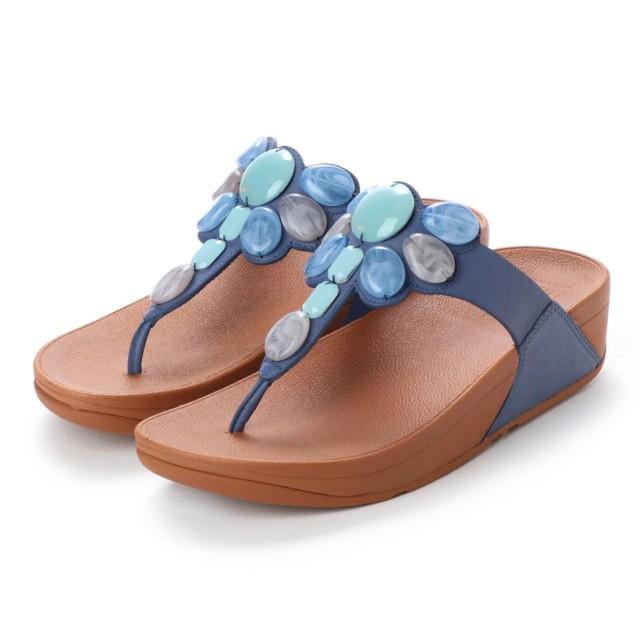 fe93b5f1e64 フィットフロップ FitFlop HONEYBEE JEWELLED TOE-THONG SANDALS (Indian Blue)