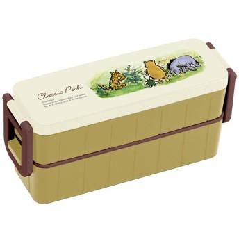 くまのプーさん お弁当箱 2段 / 超スリムタイト2段ランチボックス 箸付き 630ml POOH クラシックプー カラー
