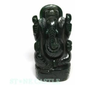 ☆置物一点物☆【天然石 彫刻置物】ガネーシャ インドアベンチュリン No.62 パワーストーン