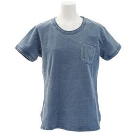 エルケクス(ELKEX) スウェット ポケット付きTシャツ 861EK8FQ5827LBLU (Lady's)