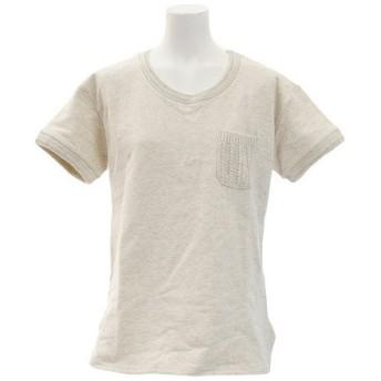 エルケクス(ELKEX) スウェット ポケット付きTシャツ 861EK8FQ5827IVR (Lady's)