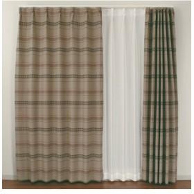 【送料無料!】アジアン刺繍ボーダー柄。遮光カーテン ドレープカーテン(遮光あり・なし)
