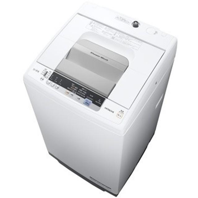 日立 全自動洗濯機(7kg) シャワー浸透洗浄 白い約束【大型商品(設置工事可)】 NW-R704-W