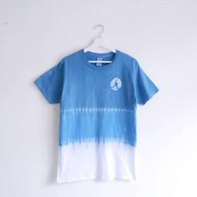 [Wheel (blue)]Tie dye/T-shirt/Garment/Custom size/Men/Women