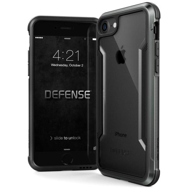 X-Doria iPhone 8 / 7 ケース DEFENSE SHIELD シリーズ 米軍MIL規格取得 MIL-STD-810G 衝撃吸収 スリム ハイブリッド アルミニウム × TPU × ポリカーボネイト