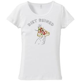 [レディースTシャツ] Diet ruined 2