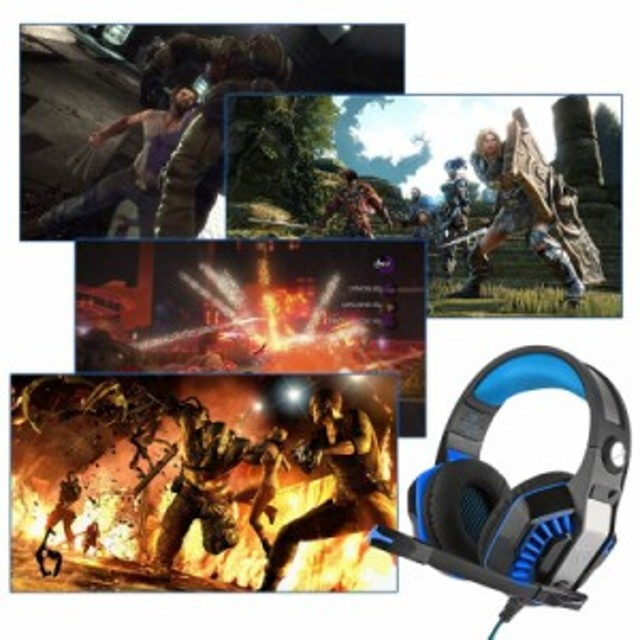 送料無料ゲーミングヘッドセット Beexcellent ヘッドホン PS4 FPS Xbox One pc スマホ タブレット対応 360度調整可能マイク ヘッドアーム