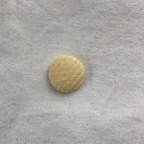 こぎん刺しのマグネット 2.9cm〈糸流れ×れもん色〉