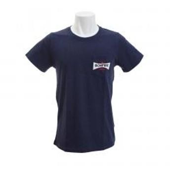 ボンファイア(Bonfire) POCKET EMBREM 半袖Tシャツ 10BNF8SCD2012 NVY(Men's)