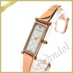 4cae308dc963 グッチ GUCCI レディース腕時計 1500 バングルウォッチ ダイヤモンド ホワイトシェル×ローズゴールド YA015560