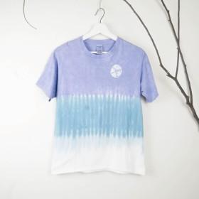 [Wheel Purple]Tie dye/T-shirt/Garment/Custom size/Men/Women