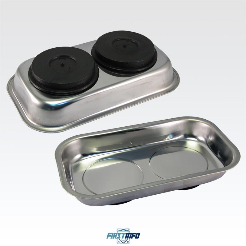 長方形白鐵工作收納磁吸盤 零件磁盤 螺絲吸盤 螺絲收納盤 強力磁鐵盤