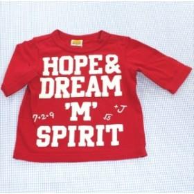 ムージョンジョン moujonjon Tシャツ 5分袖 80cm 赤系 トップス ベビー服 男の子 子供服 通販 買い取り