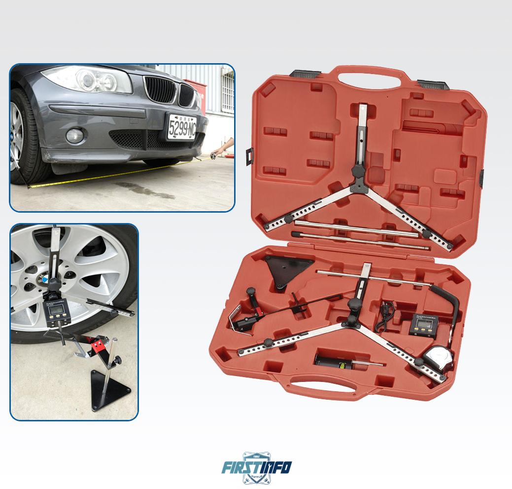 專業輪胎四輪對齊角度感應儀附數位量角器組