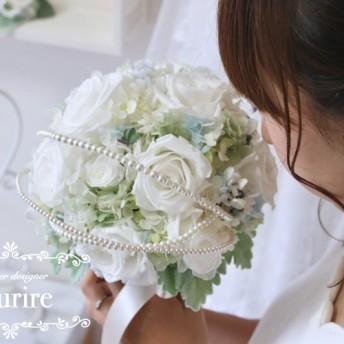 【着画】something blue bouquet & headdress