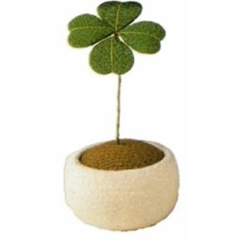 和雑貨なごみ 幸せを呼ぶ四ツ葉のクローバーちりめん細工(ミニ)鉢植えクローバー