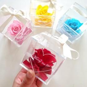 《名入れギフト☆メッセージ刻印》message ROSE Coffret バラを隠した小さな宝石箱