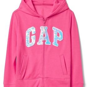 Gap 変身スパンコール ロゴパーカー スウェットシャツ