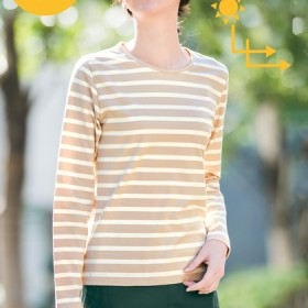 UV美肌・クルーネック長袖Tシャツ