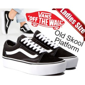 【バンズ スニーカー オールドスクール プラットフォーム】VANS OLD SKOOL Platform black/white【厚底 スニーカー JAZZ ブラック ホワイト】