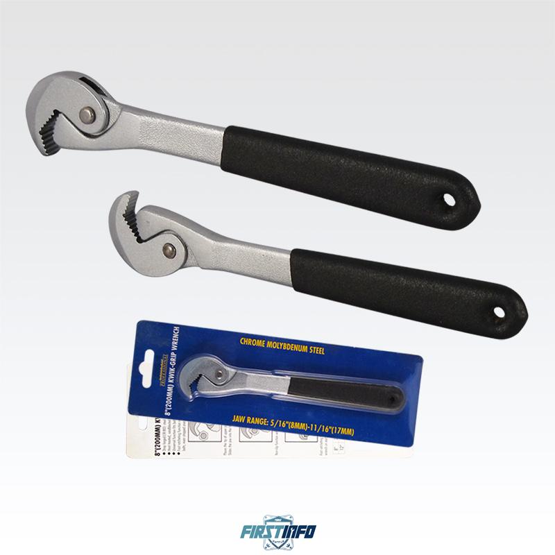 8吋 快速棘輪開口板手/棘輪扳手 適用 8~17mm( 5/16 ~11/16 ) 四方或六角的螺帽